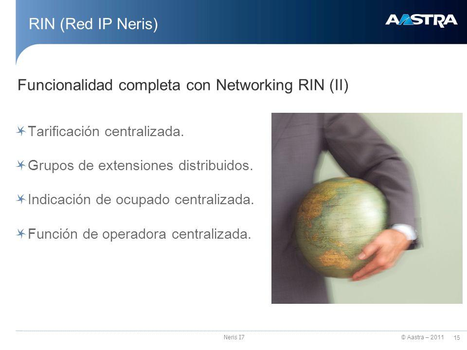 Funcionalidad completa con Networking RIN (II)