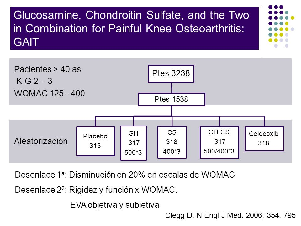 Glucosamine, Chondroitin Sulfate, and the Two in Combination for Painful Knee Osteoarthritis: GAIT