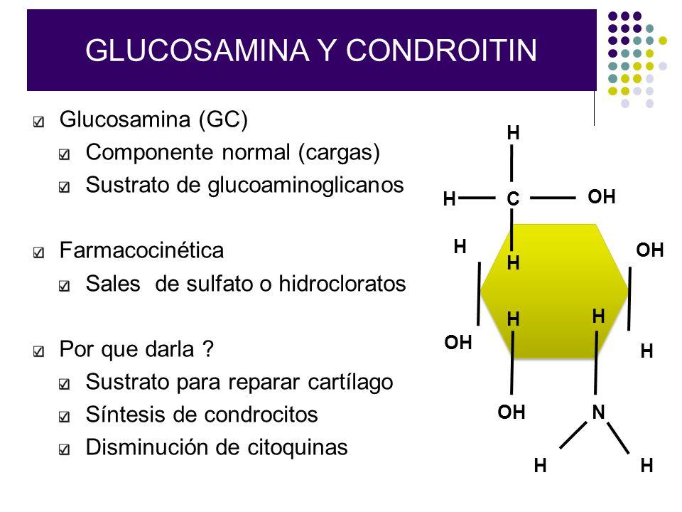 GLUCOSAMINA Y CONDROITIN