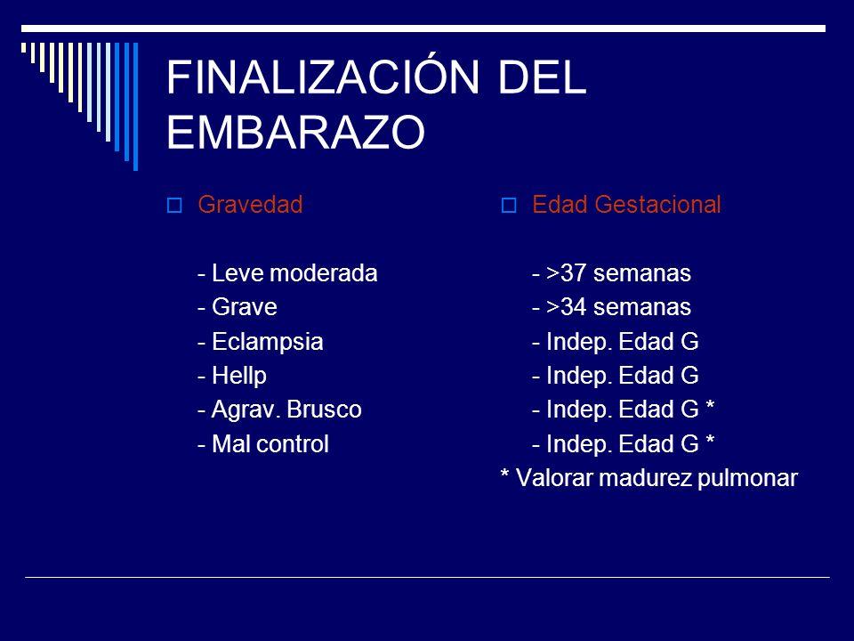 FINALIZACIÓN DEL EMBARAZO