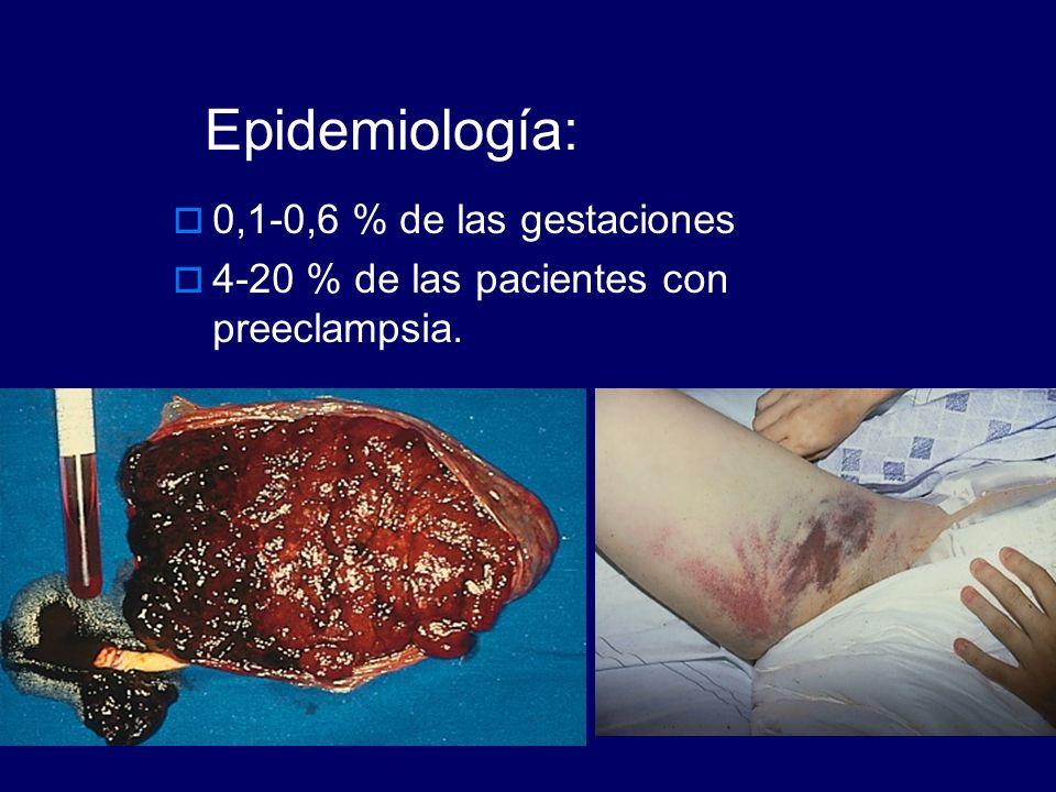 Epidemiología: 0,1-0,6 % de las gestaciones