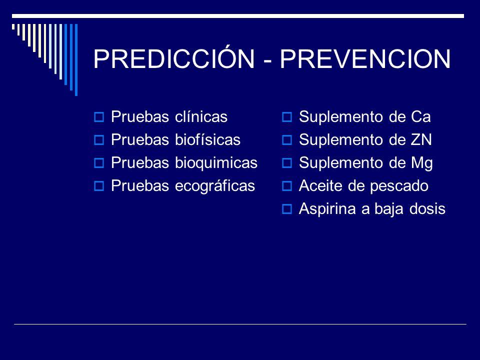 PREDICCIÓN - PREVENCION