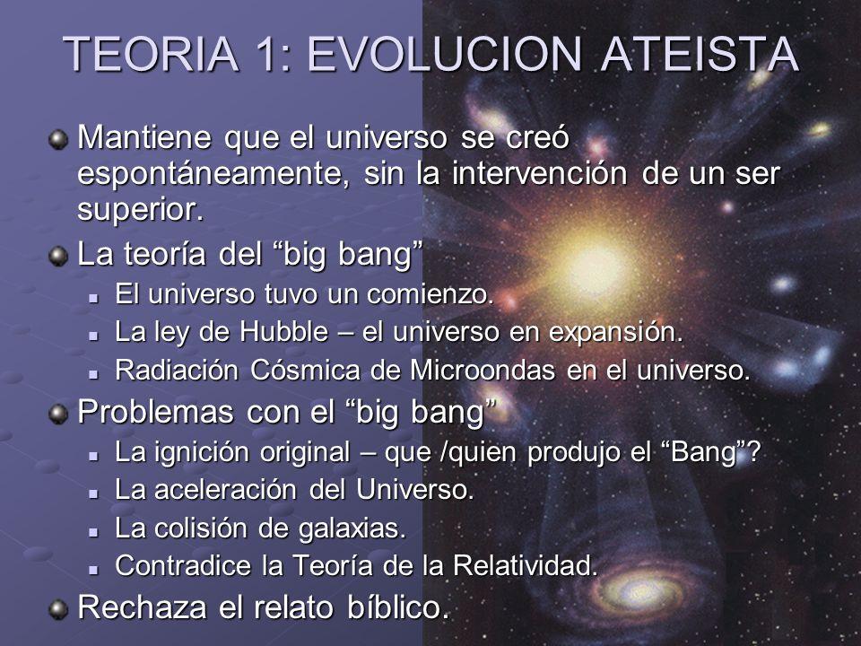 TEORIA 1: EVOLUCION ATEISTA