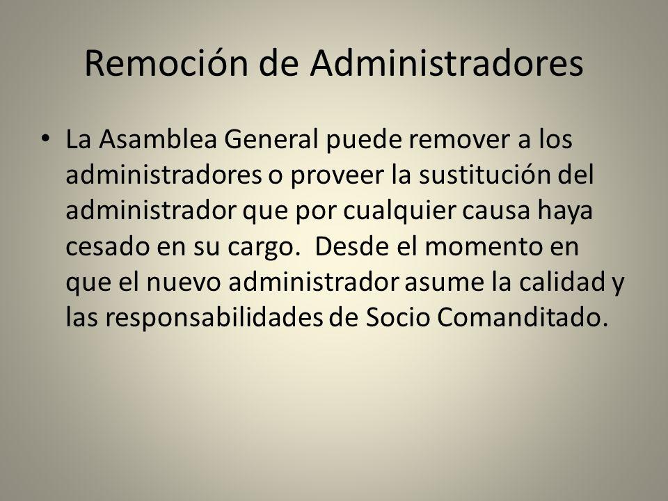 Remoción de Administradores