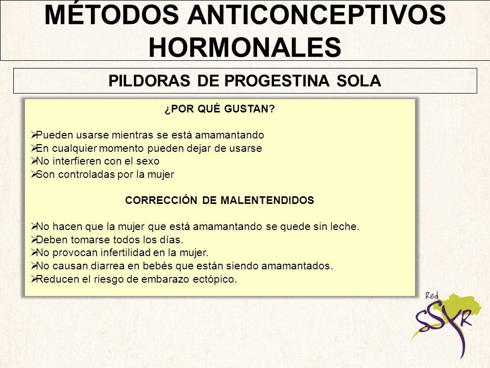 MÉTODOS ANTICONCEPTIVOS HORMONALES