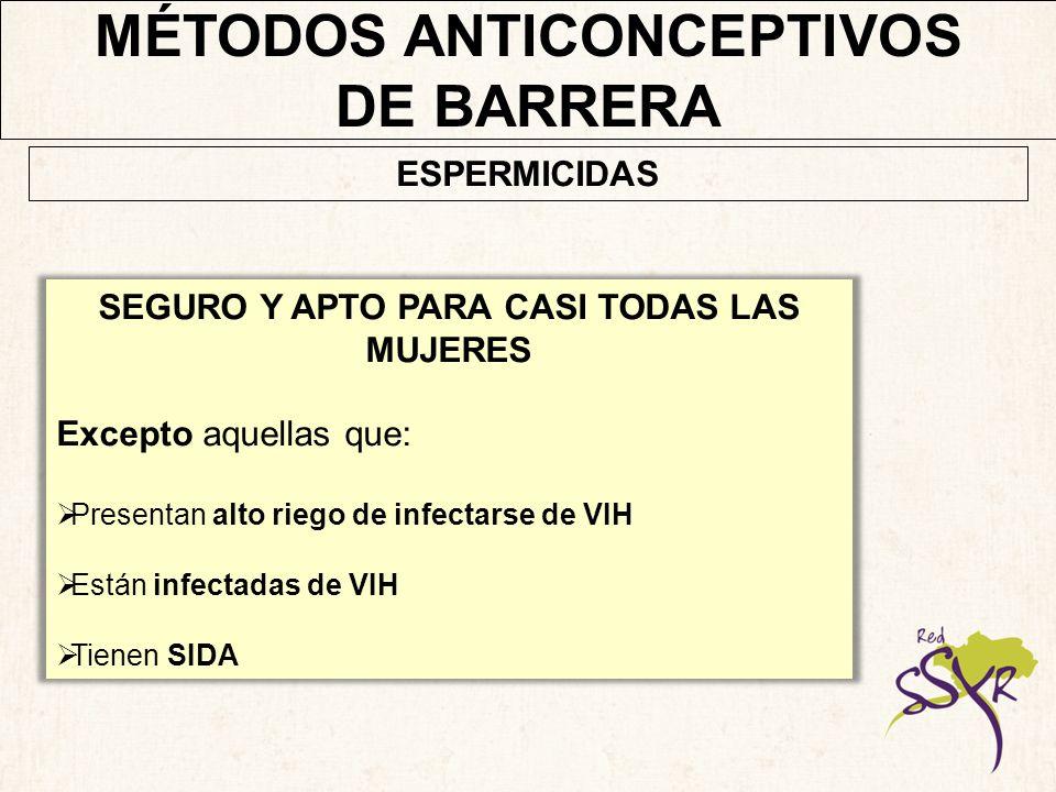 MÉTODOS ANTICONCEPTIVOS SEGURO Y APTO PARA CASI TODAS LAS MUJERES