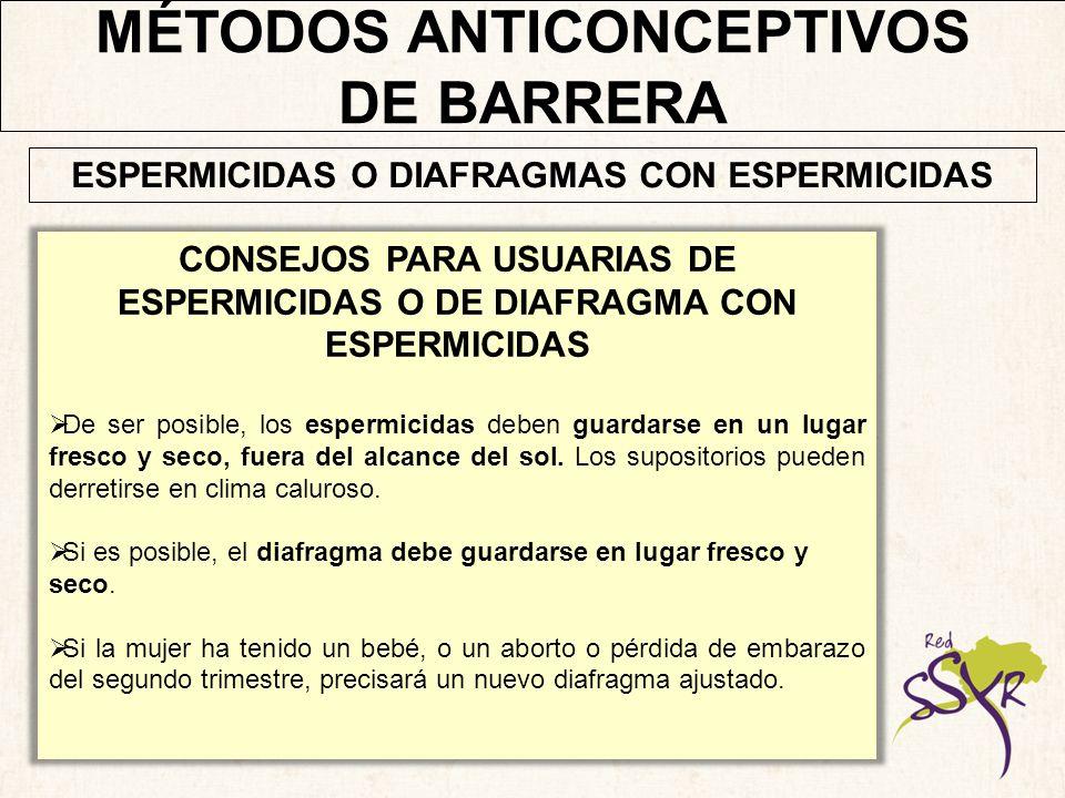 MÉTODOS ANTICONCEPTIVOS DE BARRERA
