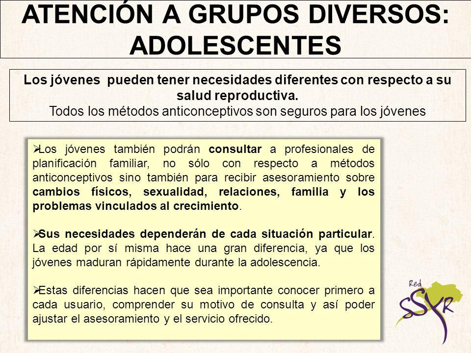 ATENCIÓN A GRUPOS DIVERSOS: ADOLESCENTES