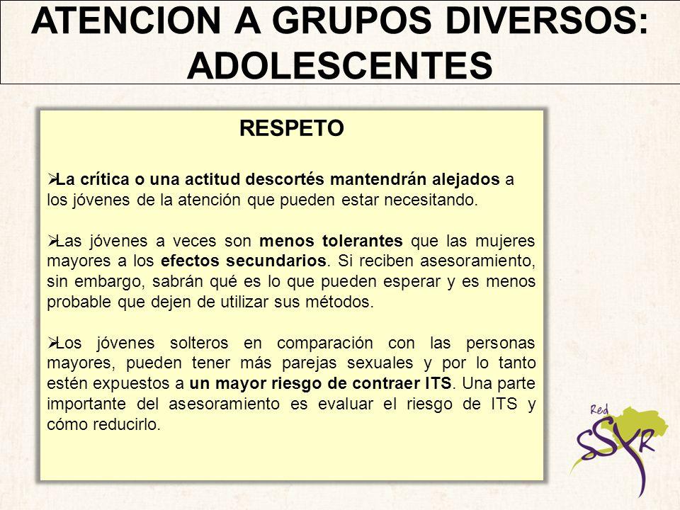 ATENCION A GRUPOS DIVERSOS: ADOLESCENTES