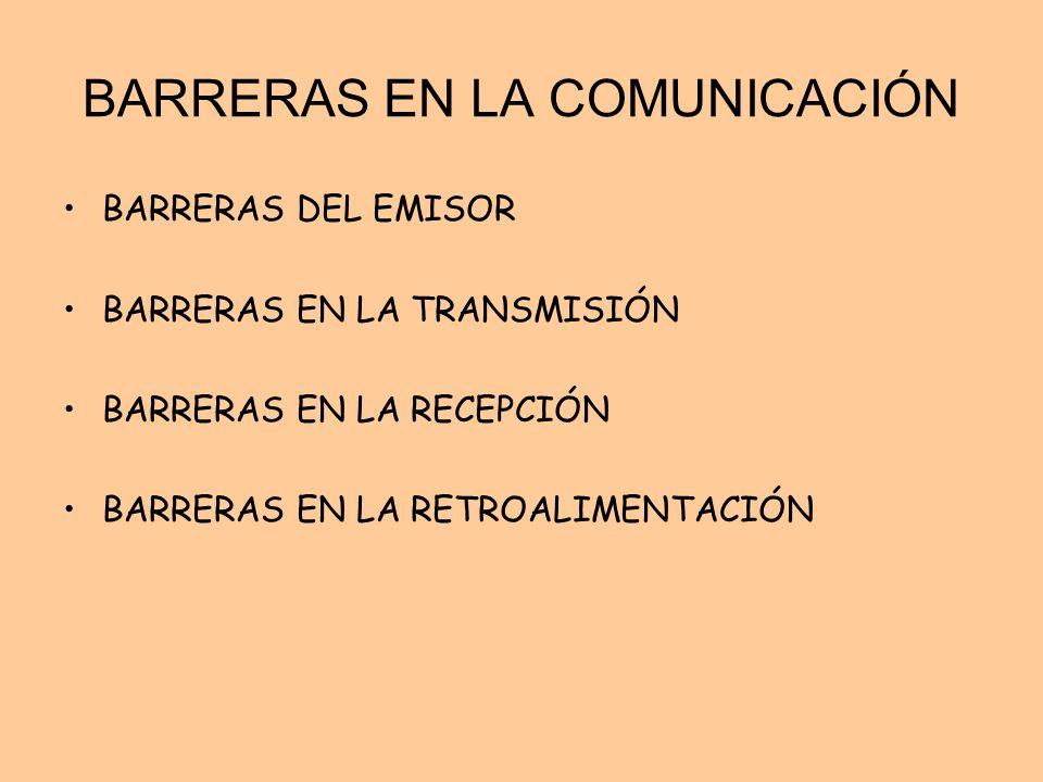BARRERAS EN LA COMUNICACIÓN