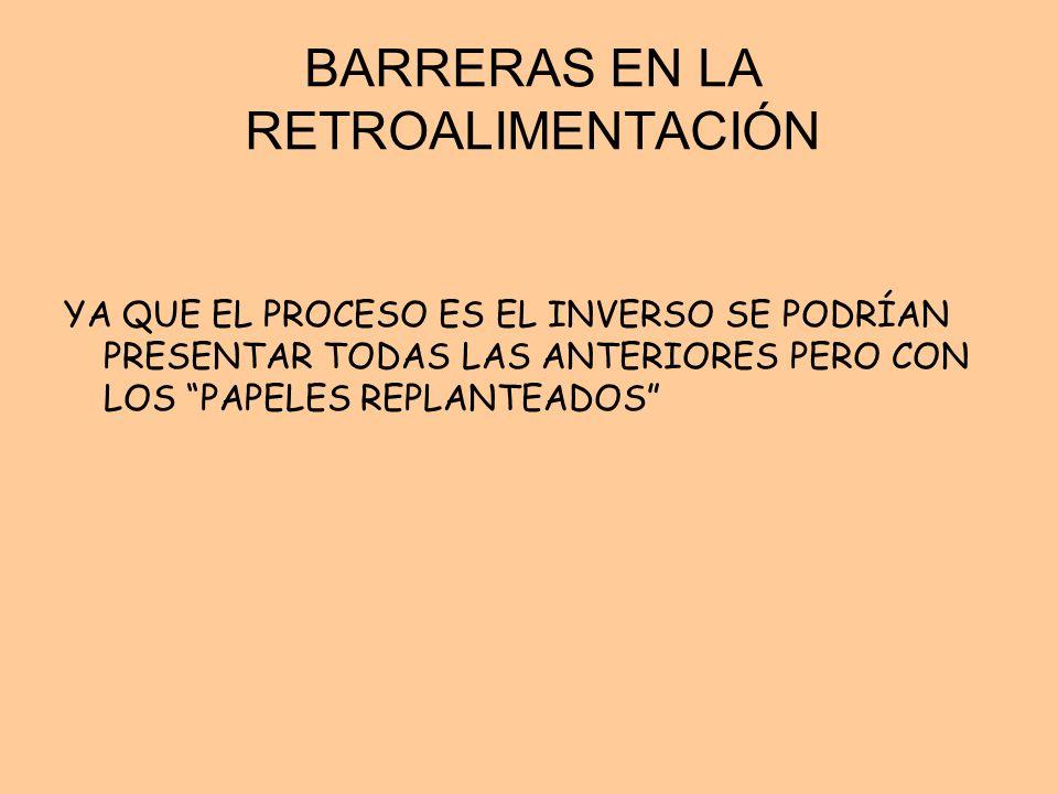 BARRERAS EN LA RETROALIMENTACIÓN