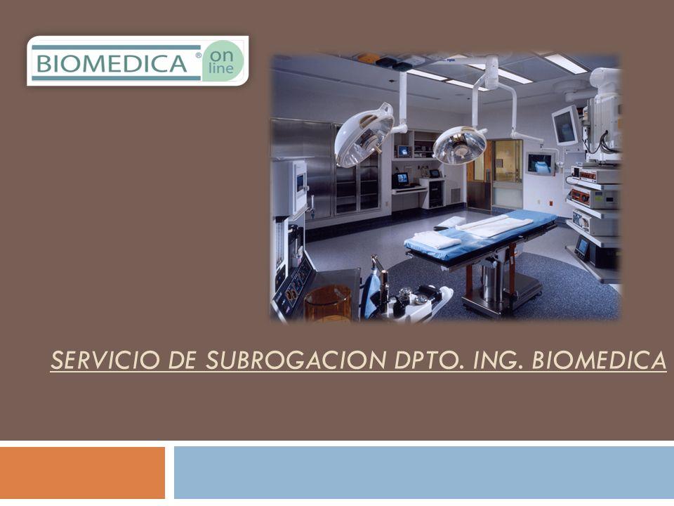 SERVICIO DE SUBROGACION DPTO. ING. BIOMEDICA