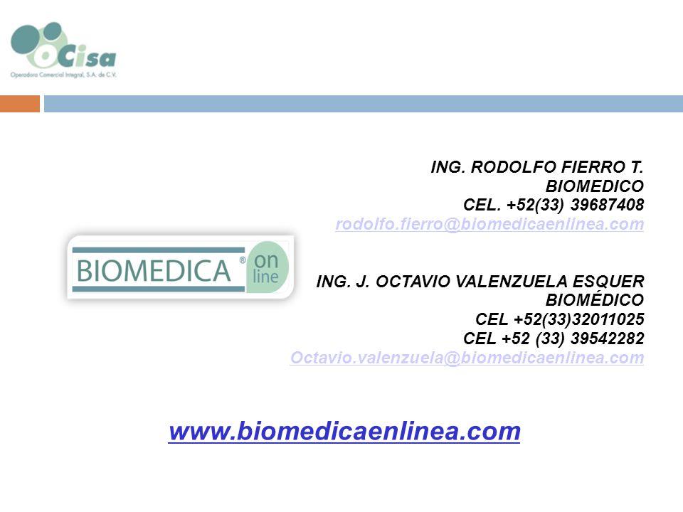 www.biomedicaenlinea.com ING. RODOLFO FIERRO T. BIOMEDICO