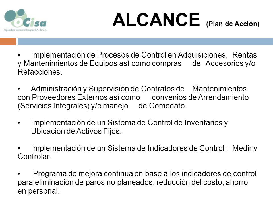 ALCANCE (Plan de Acción)