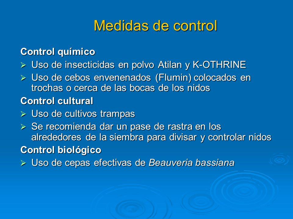 Medidas de control Control químico