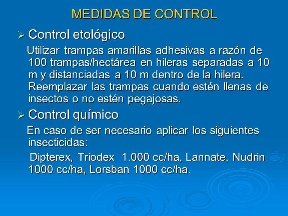 MEDIDAS DE CONTROL Control etológico Control químico