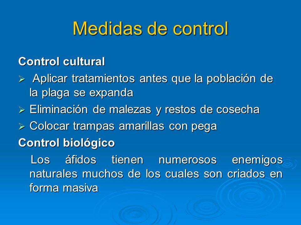Medidas de control Control cultural