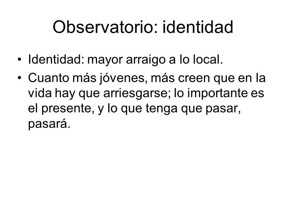 Observatorio: identidad