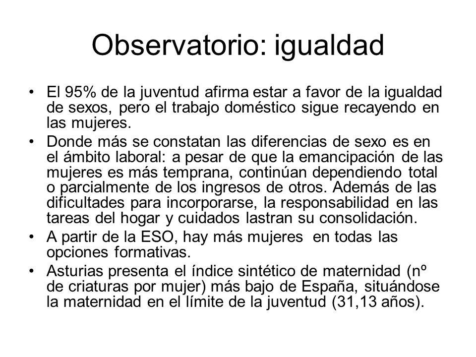 Observatorio: igualdad