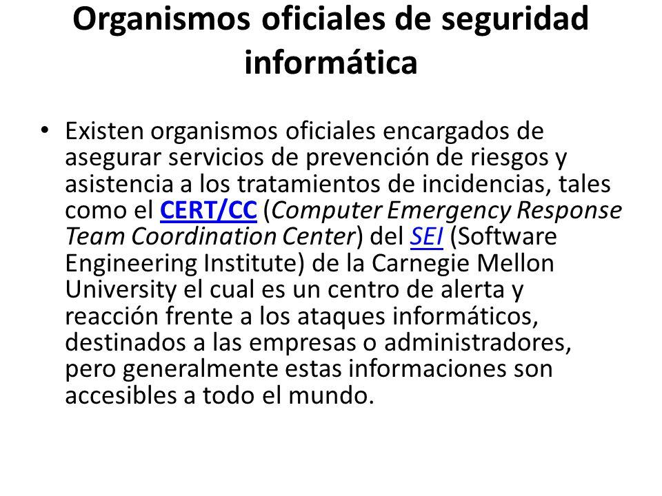 Organismos oficiales de seguridad informática