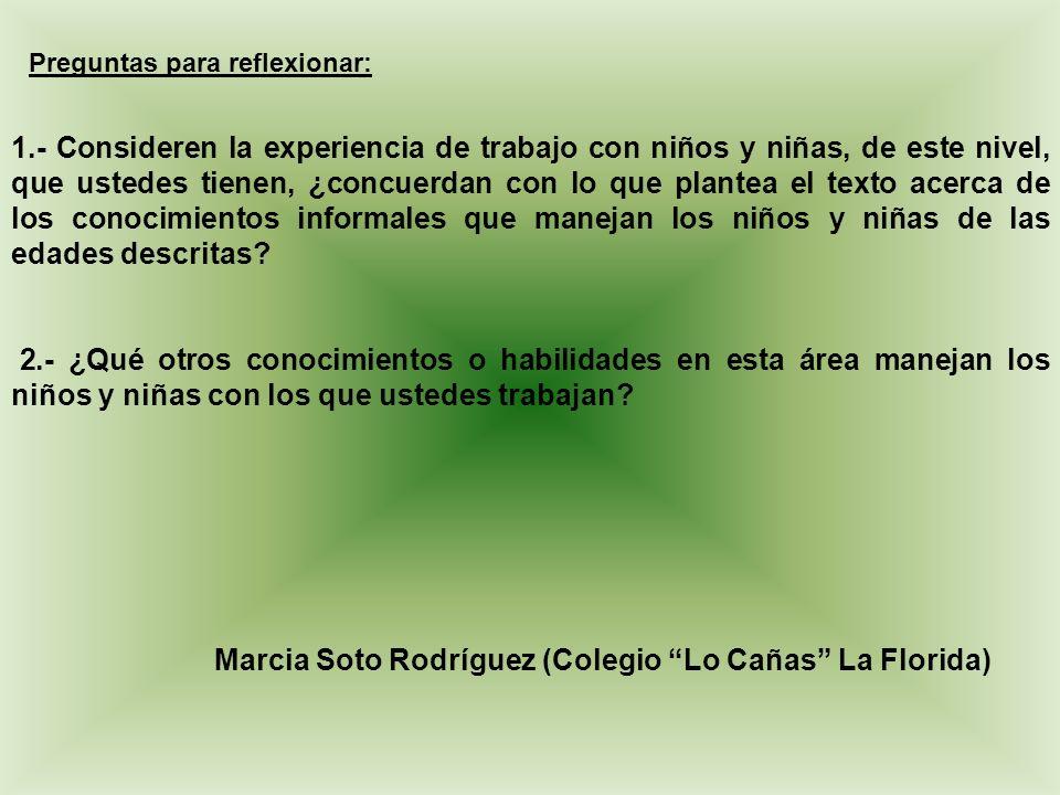 Marcia Soto Rodríguez (Colegio Lo Cañas La Florida)