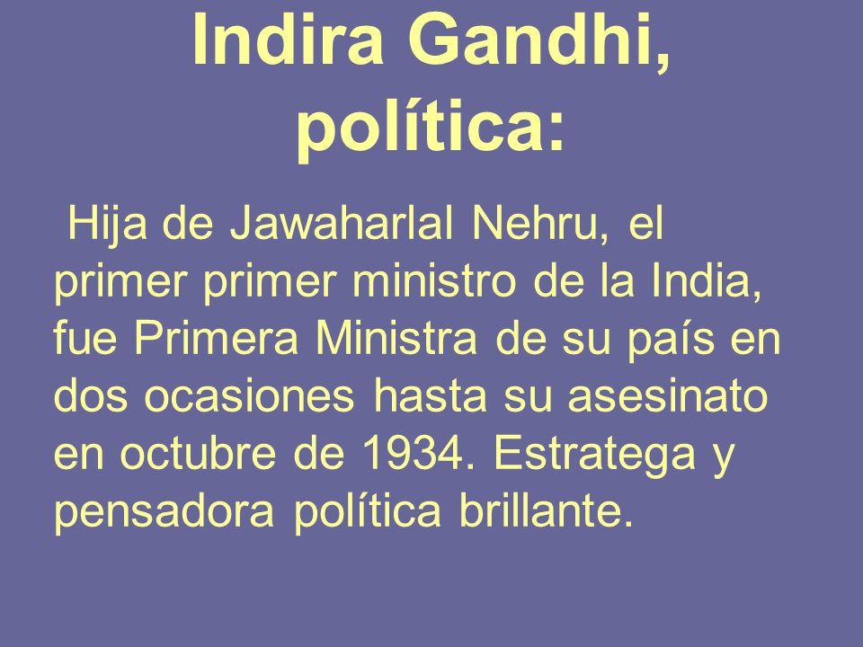 Indira Gandhi, política: