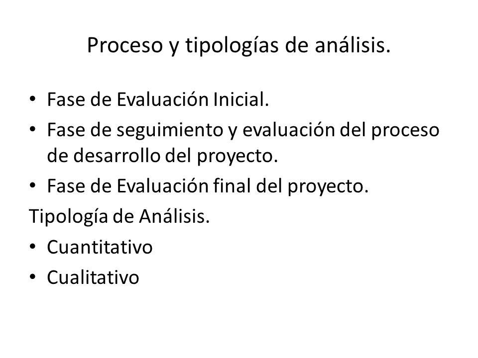 Proceso y tipologías de análisis.