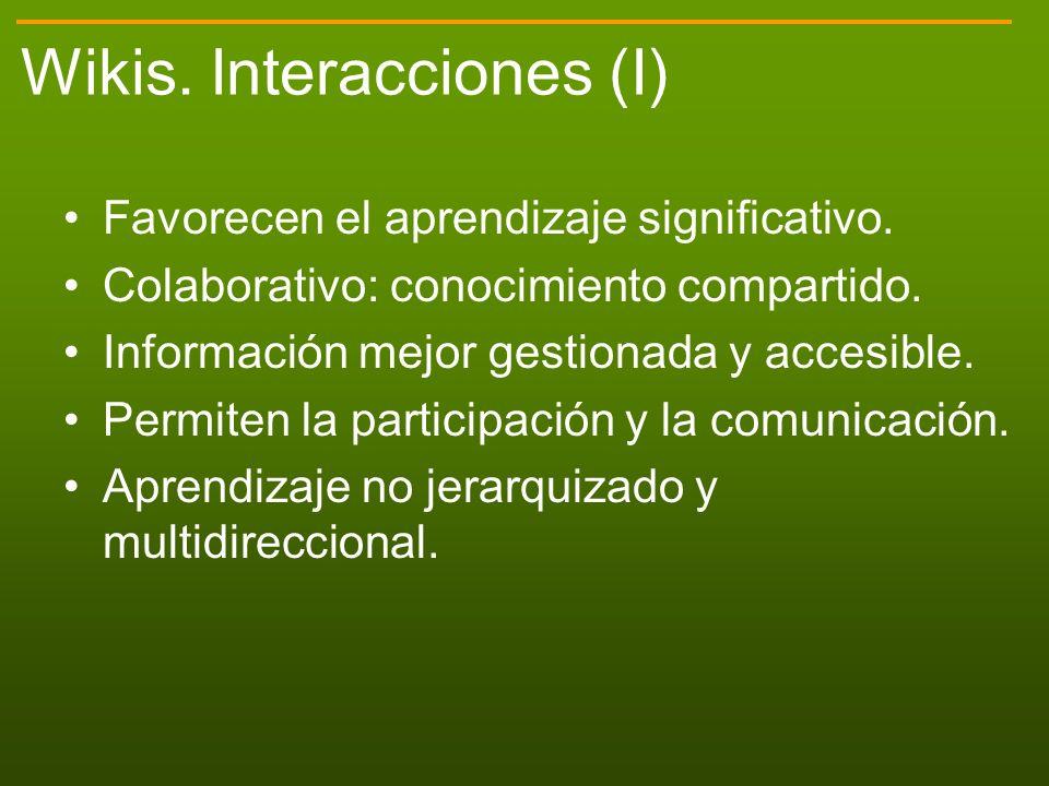 Wikis. Interacciones (I)
