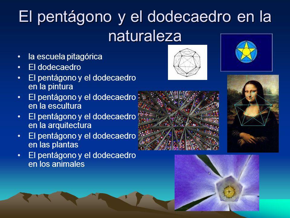 El pentágono y el dodecaedro en la naturaleza