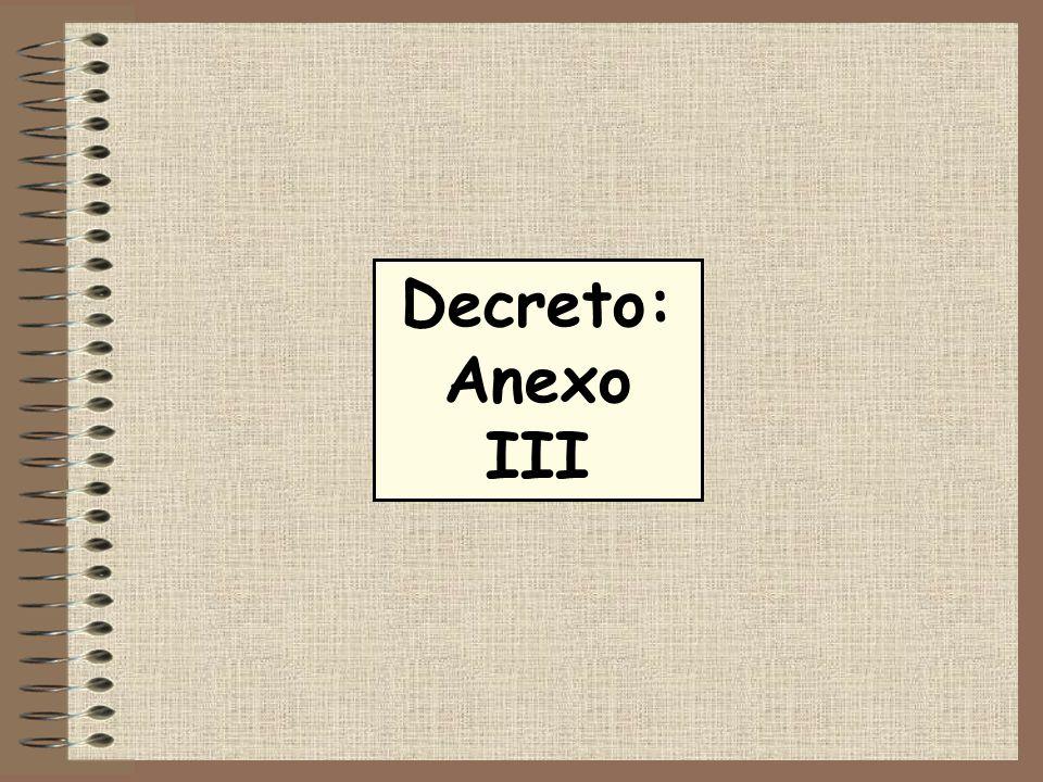 Decreto: Anexo III 10 10