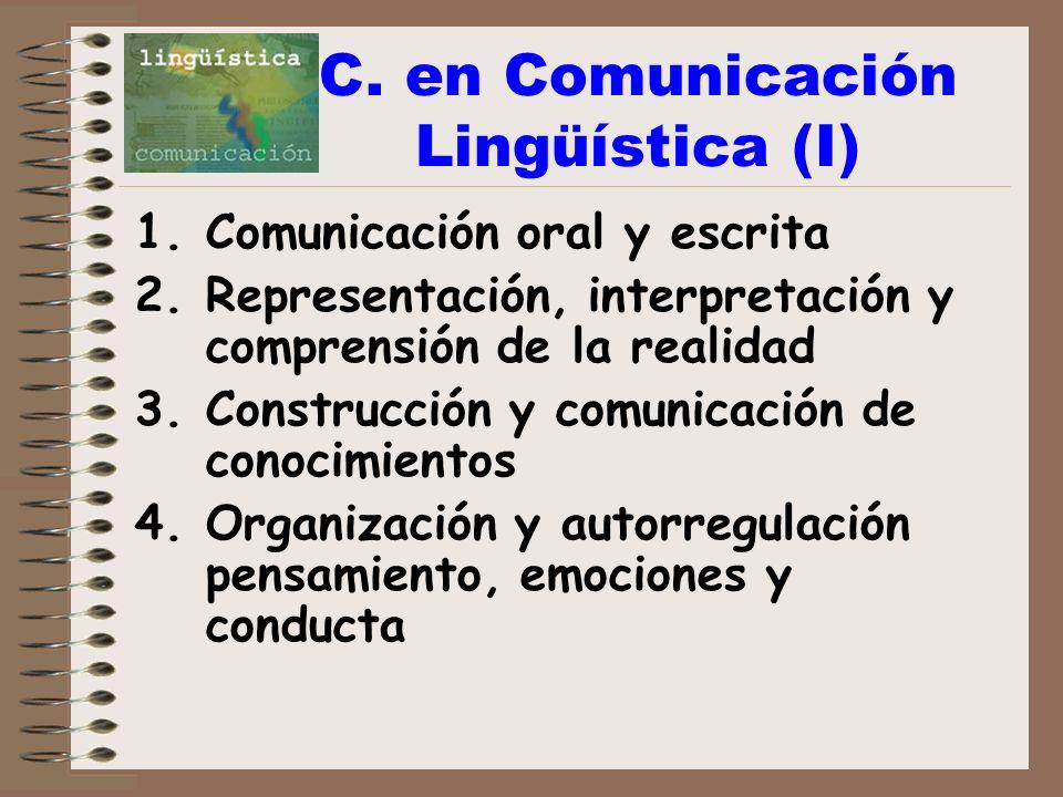 C. en Comunicación Lingüística (I)