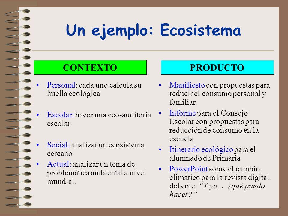 Un ejemplo: Ecosistema