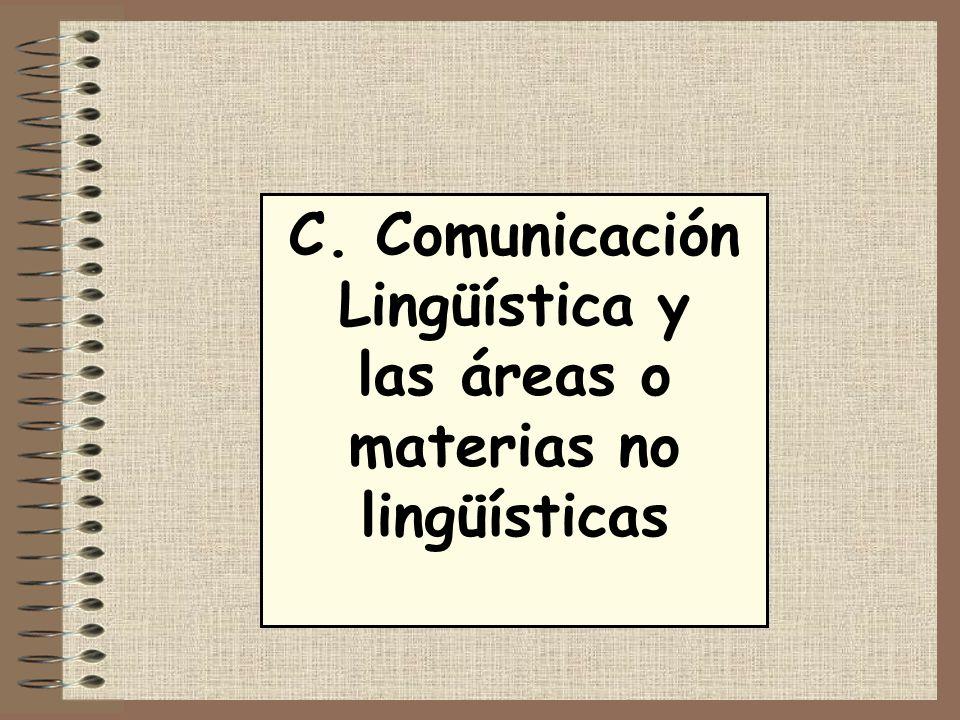 C. Comunicación Lingüística y las áreas o materias no lingüísticas