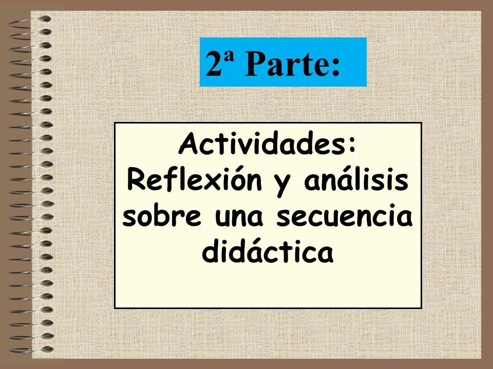 Reflexión y análisis sobre una secuencia didáctica
