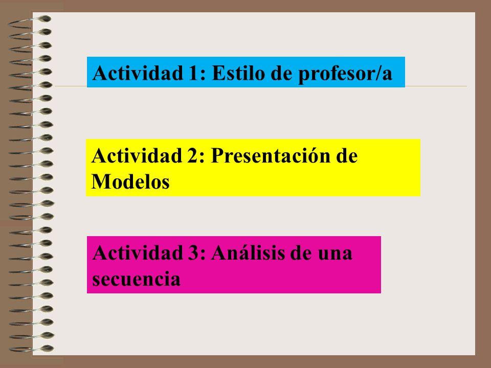 Actividad 1: Estilo de profesor/a