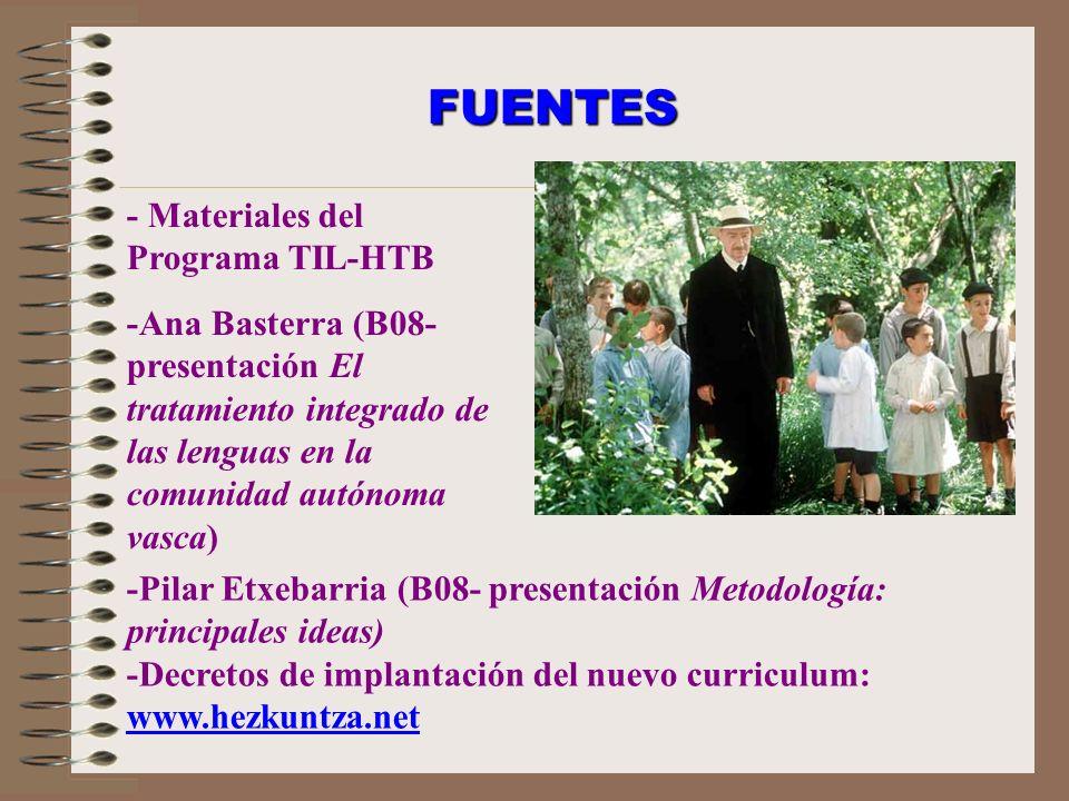 FUENTES - Materiales del Programa TIL-HTB