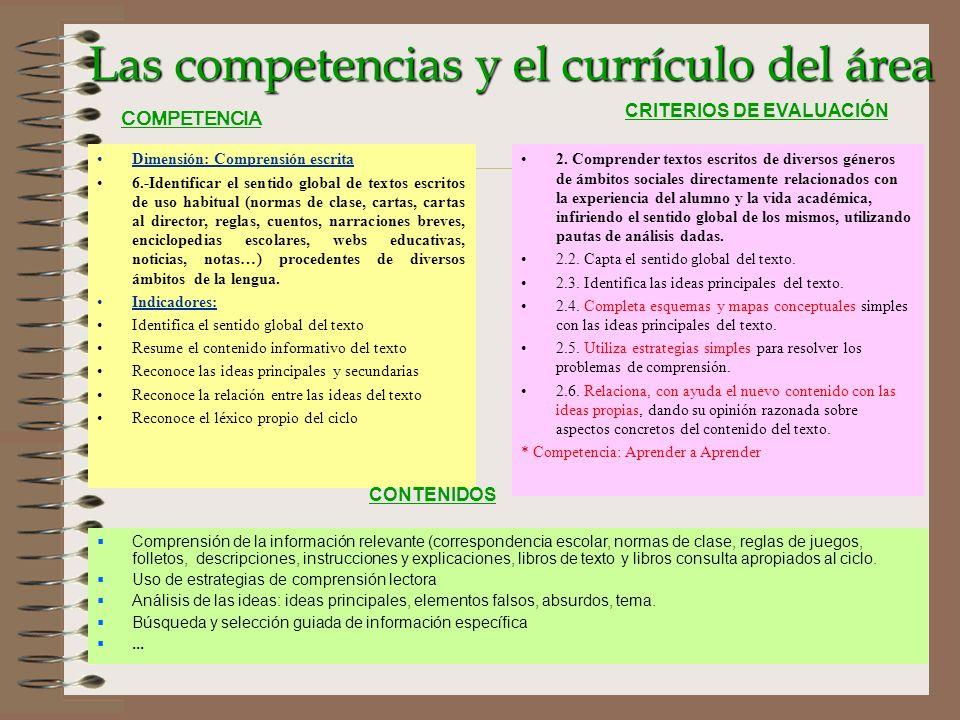 Las competencias y el currículo del área