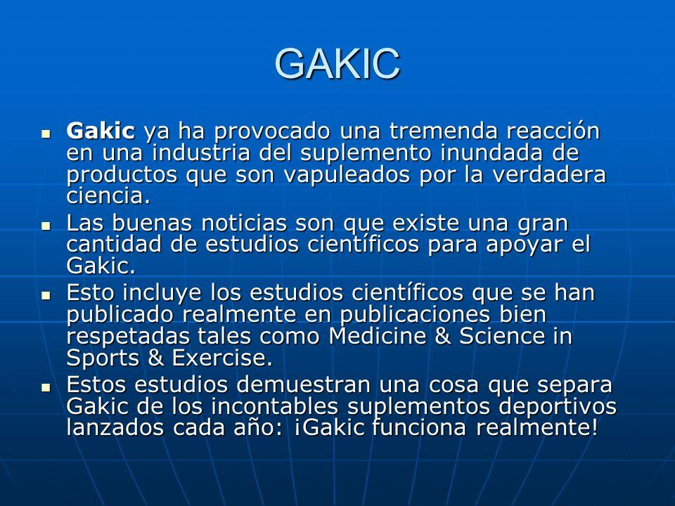GAKIC Gakic ya ha provocado una tremenda reacción en una industria del suplemento inundada de productos que son vapuleados por la verdadera ciencia.