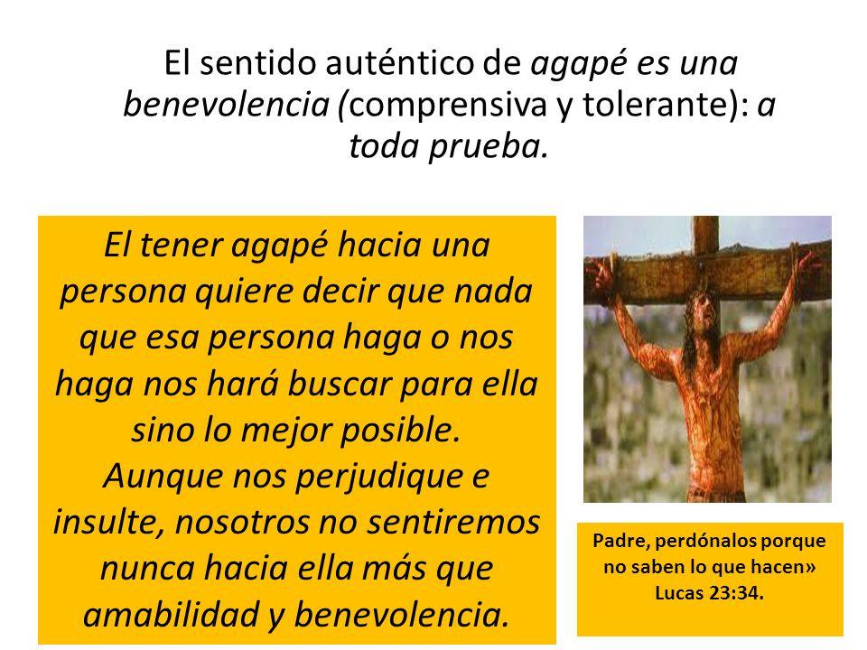 Padre, perdónalos porque no saben lo que hacen» Lucas 23:34.
