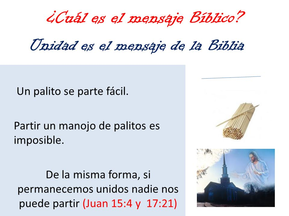 ¿Cuál es el mensaje Bíblico