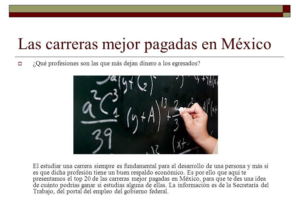 Las carreras mejor pagadas en México