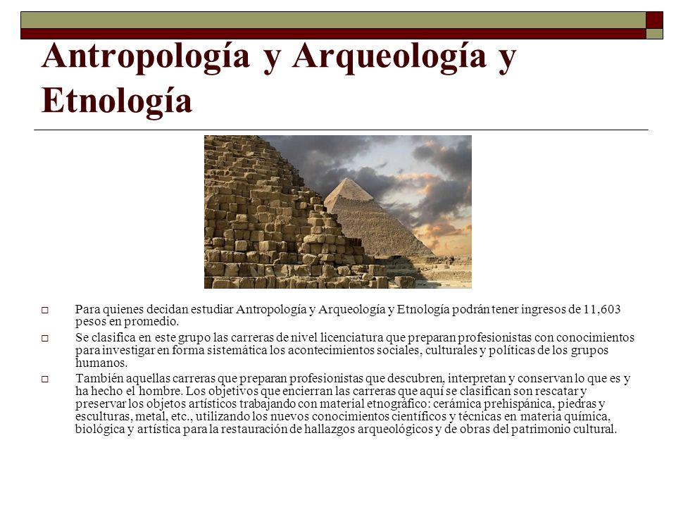 Antropología y Arqueología y Etnología