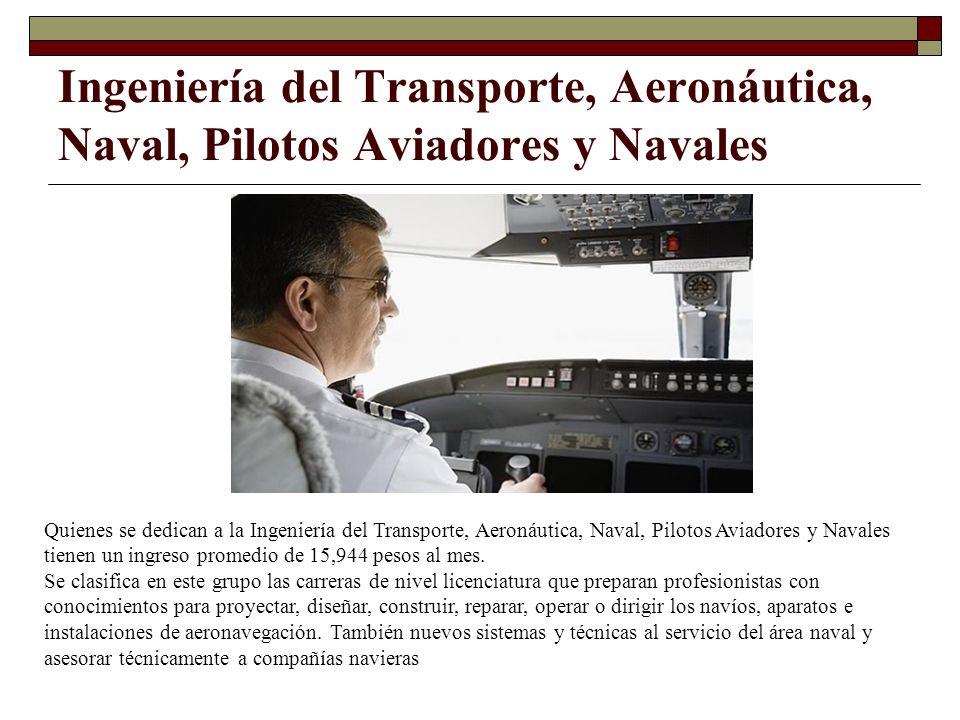 Ingeniería del Transporte, Aeronáutica, Naval, Pilotos Aviadores y Navales