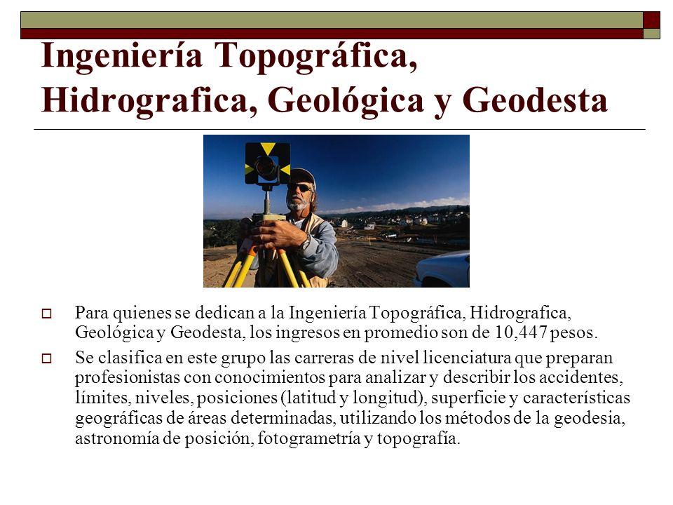 Ingeniería Topográfica, Hidrografica, Geológica y Geodesta