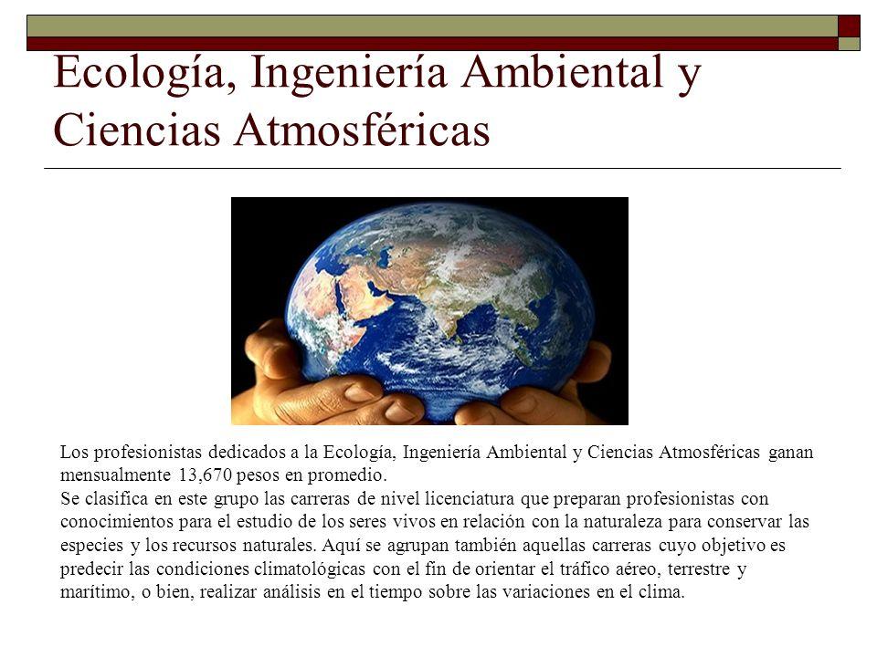 Ecología, Ingeniería Ambiental y Ciencias Atmosféricas