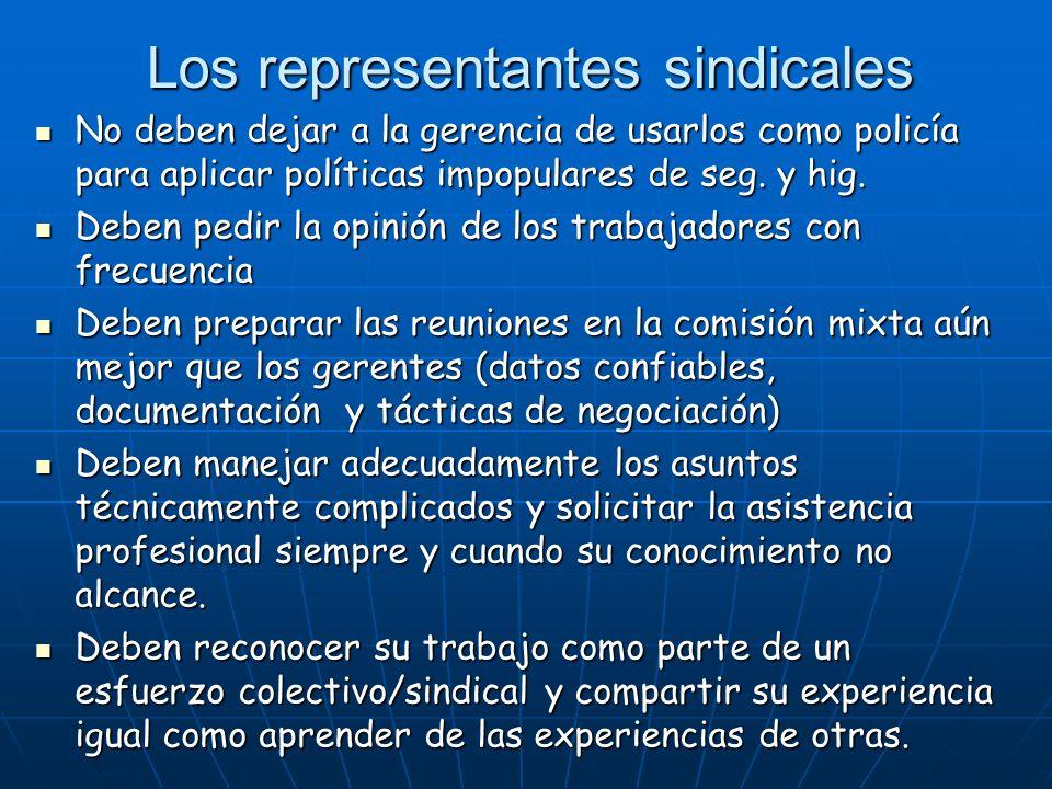 Los representantes sindicales
