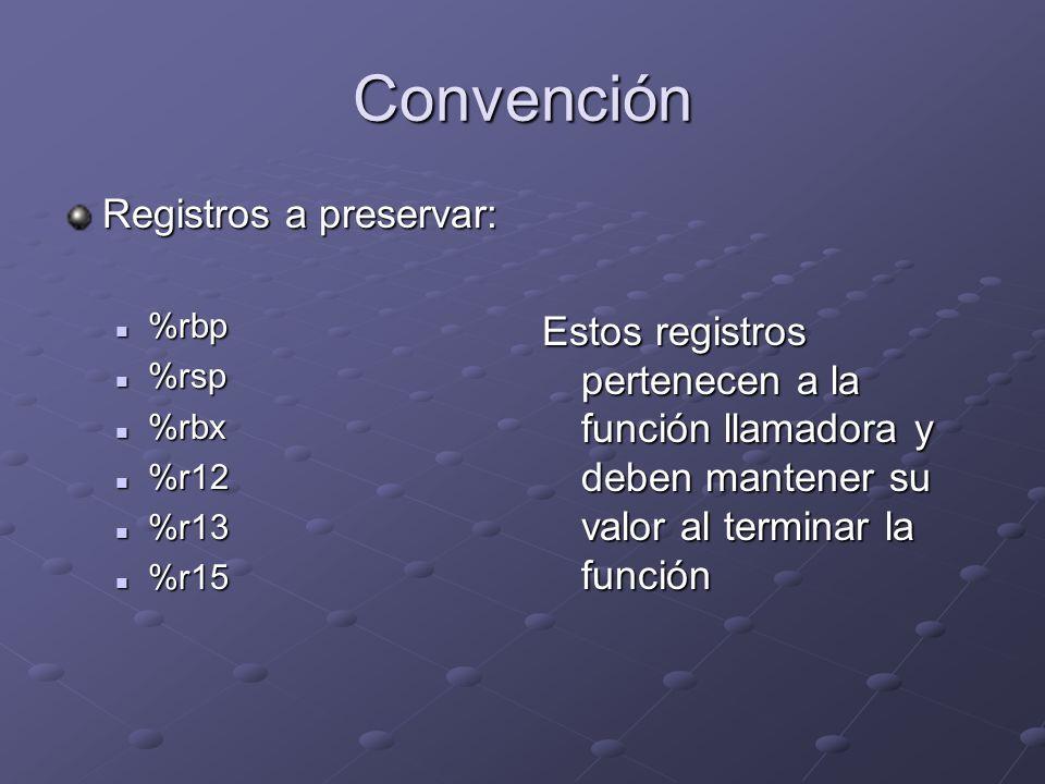 Convención Registros a preservar: