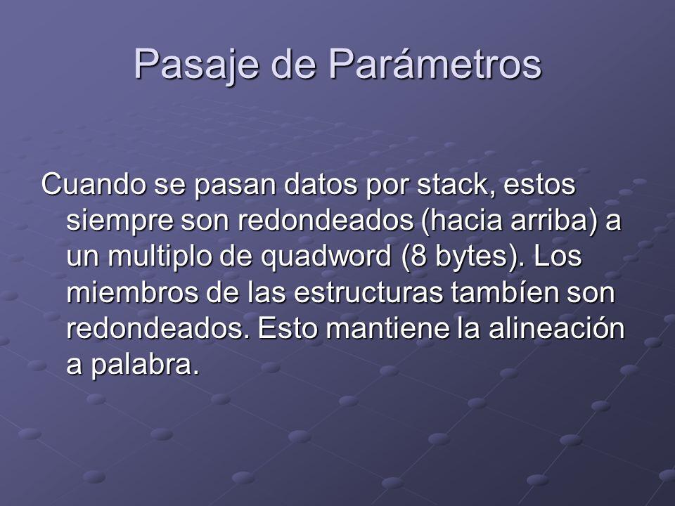 Pasaje de Parámetros