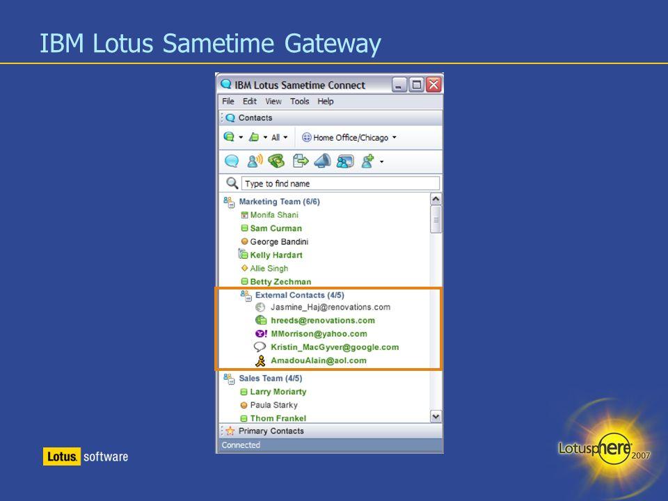 IBM Lotus Sametime Gateway
