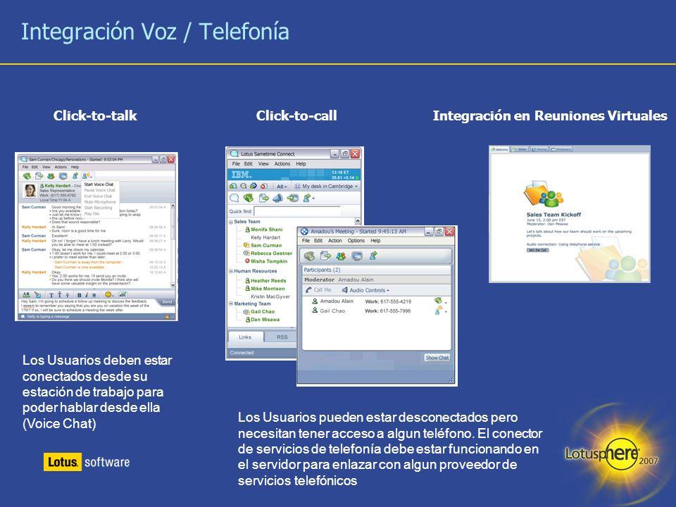 Integración Voz / Telefonía